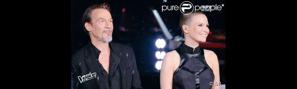 Le nouveau look de Florent Pagny pour la finale de The Voice 4 sur TF1 le 25 avril 2015.