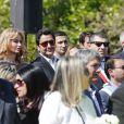 Adriana Karembeu et son mari André (Aram) Ohanian assistent à la commémoration du centenaire du Génocide Armenien à Marseille, le 24 avril 2015