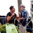 Zac Efron et Robert de Niro tournent Dirty Grandpa à Tybee Island, le 27 avril 2015.