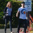 Ryan Phillippe et Paulina Slagter se rendent à une réunion à l'école de Deacon le fils de l'acteur et Reese Witherspoon à Brentwood, le 8 mars 2015.