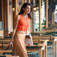 Amal Alamuddin, femme de George Clooney, est allée déjeuner au restaurant Morandi à New York, le 7 avril 2015