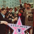 Jacqueline Stone (née Goddet) et Oliver Stone à l'inauguration de son étoile sur le Hollywood Boulevard le 18 mars 1996