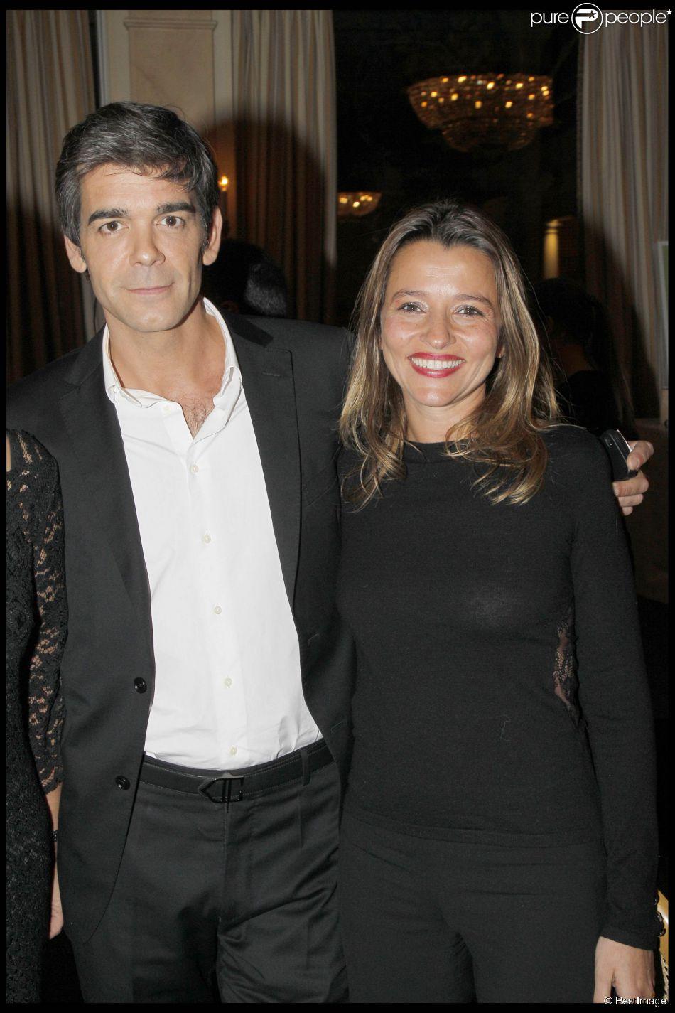 Xavier de Moulins et sa femme Anaïs - Remise des prix  Les trois coups de l'Angelus  2012 dans les salons de l'hôtel Bristol à Paris. Le 19 mars 2012.