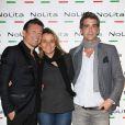 Exclusif - Jacques Sanchez, Xavier de Moulins et sa femme Anaïs Bouton, directrice des programmes de Paris Premiere - Anniversaire de l'incontournable programmateur de télévision et de radio Jacques Sanchez au restaurant NOLITA à Paris. Le 29 mai 2013.