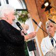 Mimie Mathy a été décorée de la Légion d'honneur avec les insignes de chevalier - Pavillon Dauphine à Paris, lundi 4 mai 2015. Line Renaud a tenu à faire un discours qui a ému la comédienne.