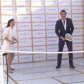 Roger Federer et Elena Anaya : Duo glamour pour une soirée bulles et balles