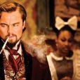 Daniele Watts, en arrière-plan de cette image de Django Unchained avec Leonardo DiCaprio