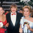 Sophie Marceau, Gérard Depardieu et Catherine Deneuve à Cannes en mai 1984.