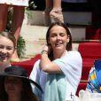 Alexandra de Hanovre, Pauline Ducruet et Camille Gottlieb - Baptême du prince héréditaire Jacques et de sa soeur la princesse Gabriella en la cathédrale Notre-Dame-Immaculée de Monaco le 10 mai 2015