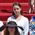 Pauline Ducruet - Baptême du prince héréditaire Jacques et de sa soeur la princesse Gabriella en la cathédrale Notre-Dame-Immaculée de Monaco le 10 mai 2015
