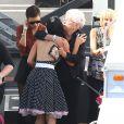 """Rumer Willis et Tallulah Willis avec leur grand-mère Marlene Willis - Les danseurs de """"Dancing With The Stars"""" dans les studios de Hollywood, le 11 mai 2015"""