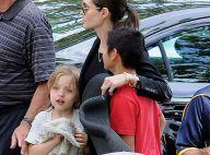Angelina Jolie : Shiloh et Zahara sur le terrain, Pax et Knox dans les gradins