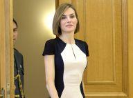Letizia d'Espagne : Stylée au côté de Felipe, elle recouvre un peu ses jambes