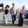 Les jeunes mariés Geri Halliwell et Christian Horner arrivent à l'aéroport de Nice, le 16 mai 2015 pour passer leur lune de miel à Cannes pendant le 68 ème Festival International du Film de Cannes.