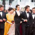 """Isabella Rossellini, Elettra Rossellini Wiedemann, son mari James Marshall - Montée des marches du film """"Sicario"""" lors du 68e Festival International du Film de Cannes le 19 mai 2015"""