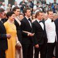"""Isabella Rossellini, Elettra Rossellini Wiedemann et son mari James Marshall - Montée des marches du film """"Sicario"""" lors du 68e Festival International du Film de Cannes le 19 mai 2015"""