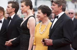 Elettra Rossellini rayonnante avec son mari, son frère et sa mère Isabella