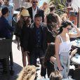 Kendall Jenner et Cara Delevingne à la plage du Martinez beach pendant le 68ème festival du film de Cannes, le 20 mai 2015
