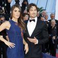 """Ian Sumerhalder et Nikki Reed - Montée des marches du film """"Youth"""" lors du 68e Festival de Cannes, le 20 mai 2015."""
