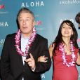 Alec Baldwin et Hilaria Baldwin lors d'une projection spéciale du film Aloha présentée par la Columbia Pictures et la Regency Enterprises en association avec LSTAR Capital and Ratpac Entertainment à New York, le 20 mai 2015