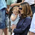 Tamara Ecclestone et sa fille Sophia dans le paddock du Grand Prix de Monaco durant les essais du 23 mai 2015