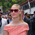 Beatrice Borromeo dans le paddock du Grand Prix de Monaco durant les essais du 23 mai 2015