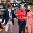Michel Ferry, le commissaire général de l'ACM fait découvrir le circuit du Grand Prix de Monaco à Pierre Casiraghi et sa fiancée Beatrice Borromeo le 23 mai 2015