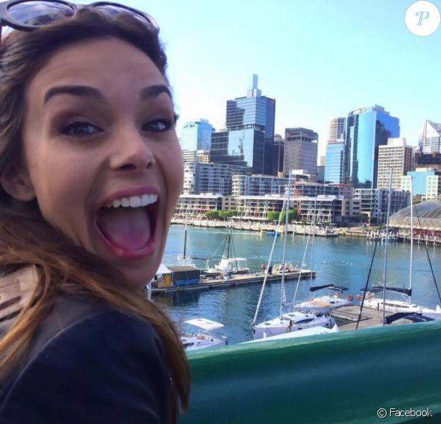 Marine Lorphelin : selfie à Sydney