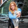 Lindsay Lohan va manger au restaurant The Ivy à Londres, le 9 mai 2015