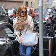 Lindsay Lohan fait du shopping à Milan, le 28 avril 2015.