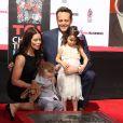Vince Vaughn avec sa femme Kyla Weber et leurs enfants Vernon Lindsay Vaughn et Lochlyn Kyla Vaughn - Vince Vaughn laisse ses empreintes dans le ciment hollywoodien au TCL Chinese Theater à Hollywood, le 4 mars 2015.