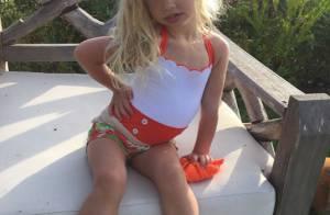 Jessica Simpson : Crinière blonde et petite moue, à 3 ans, Maxwell l'imite déjà