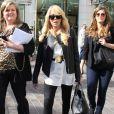 La mere de Lindsay Lohan, Dina, fait du shopping avec des amies a The Grove a Los Angeles. le 1er fevrier 2013