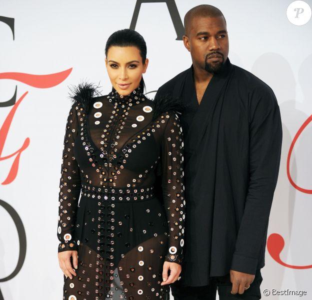 Kim Kardashian son mari Kanye West aux CFDA Fashion Awards 2015 au Lincoln Center à New York, le 1er juin 2015.