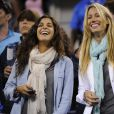 Xisca Perello et Isabel Nadal lors de la demi-finale de Rafael Nadal à l'US Open, le 7 septembre 2013 à Flushing Meadows, à New York
