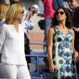 Maria Parera et Xisca Perello lors de la finale de l'US Open de Rafael Nadal à Flushing Meadows, à New York, le 9 septembre 2013