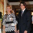 Rafael Nadal et sa mère Maria Parera lors des prix Princesses des Asturies au théâtre de Campoamor en Asturie, le 24 octobre 2008