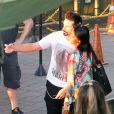 Kevin Richardson des Backstreet Boy et sa femme Kristin visite le Corcovado à Rio de Janeiro, le 10 juin 2015