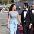 Le prince Carl Philip de Suède et Sofia Hellqvist - Arrivées au dîner à bord du S/S Stockholm la veille du mariage du prince Carl Philip de Suède et de Sofia Hellqvist à Stockholm le 12 juin 2015  People arriving before the dinner gala aboard S/S Stockholm for wedding of Swedish Prince Carl Philip and Sofia Hellqvist, in Stockholm, on Friday 12 June, 201512/06/2015 - Stockholm