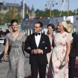 - Arrivées au dîner à bord du S/S Stockholm la veille du mariage du prince Carl Philip de Suède et de Sofia Hellqvist à Stockholm le 12 juin 2015  Princess Victoria, Prince Daniel of Sweden and Princess Mette-Marit of Norway pose before dinner gala for wedding of Swedish Prince Carl Philip and Sofia Hellqvist, in Stockholm, on Friday 12 June, 201512/06/2015 - Stockholm