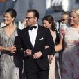 La princesse Victoria de Suède, le prince Daniel et la princesse Mette-Marit de Norvège - Arrivées au dîner à bord du S/S Stockholm la veille du mariage du prince Carl Philip de Suède et de Sofia Hellqvist à Stockholm le 12 juin 2015  Princess Victoria, Prince Daniel of Sweden and Princess Mette-Marit of Norway pose before dinner gala for wedding of Swedish Prince Carl Philip and Sofia Hellqvist, in Stockholm, on Friday 12 June, 201512/06/2015 - Stockholm