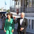 Le roi Carl Gustav de Suède et la reine Silvia - Arrivées au dîner à bord du S/S Stockholm la veille du mariage du prince Carl Philip de Suède et de Sofia Hellqvist à Stockholm le 12 juin 2015  People arriving before the dinner gala aboard S/S Stockholm for wedding of Swedish Prince Carl Philip and Sofia Hellqvist, in Stockholm, on Friday 12 June, 201512/06/2015 - Stockholm