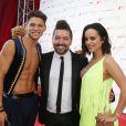"""Rayane Bensetti, Chris Marques et Alizée - Spectacle """"Danse avec les stars"""" lors du 55ème Festival de Télévision de Monte-Carlo à Monaco, le 14 juin 2015."""