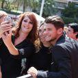"""Rayane Bensetti - Dédicace des interprètes de """"Danse avec les Stars"""" lors du 55ème festival de télévision de Monte-Carlo à Monaco. Le 14 juin 2015"""