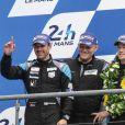 Patrick Dempsey a terminé à la seconde place des 24 Heures du Mans en catégorie GT Am, le 14 juin 2015 au Mans, sur le Circuit des 24 Heures
