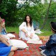 Natasha St Pier tourne le clip de la chanson Tous les Acadiens à Draveil le 3 juin 2015
