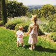 Les filles d'Hugo Lloris, Ana-Rose et Giuliana- Photo publiée sur le compte Instagram de Marine Lloris le 16 juin 2015