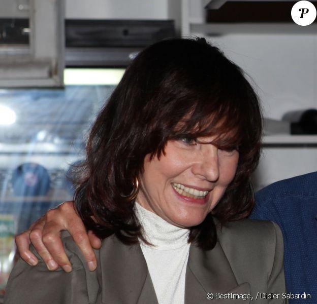 Exclusif - Denise Fabre et Jean-François Téaldi, lors de la soirée des Niçois à l'Espace Montmartre à Paris, le 9 juin 2015.
