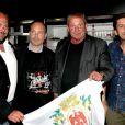 Exclusif - Gabriel Belait (PDG de Pearl), Régis Ceccarelli et Roland Courbis, lors de la soirée des Niçois à l'Espace Montmartre à Paris, le 9 juin 2015.