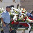 Obsèques d'Eduardo Cruz à Madrid, le 20 juin 2015. Eduardo Cruz, le père de Penelope Cruz, Monica Cruz et Eduardo Cruz est décédé deux jours plus tôt à 62 ans.